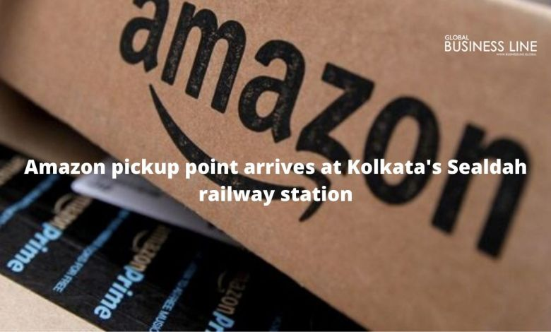 Amazon pickup point arrives at Kolkata's Sealdah railway station