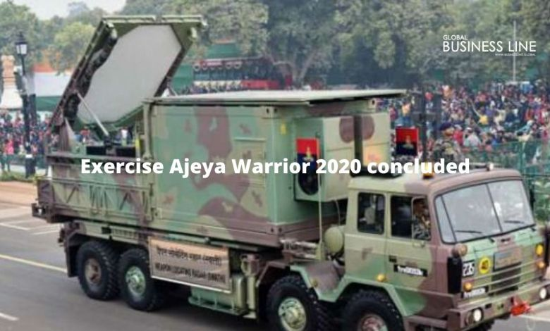 Exercise Ajeya Warrior 2020 concluded