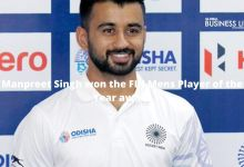 Manpreet Singh won the FIH Mens Player of the Year award