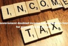 Government doubled income tax exemption limit for gratuity to Rs 20 Lakh