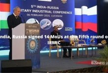 India, Russia signed 14 MoUs at the Fifth round of IRMIC
