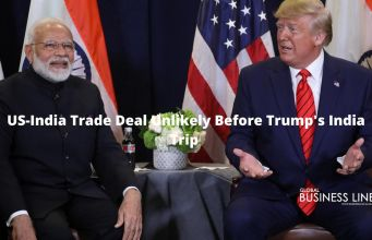 US-India Trade Deal Unlikely Before Trump's India Trip