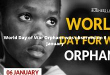 World Day of War Orphans was observed on 6 January