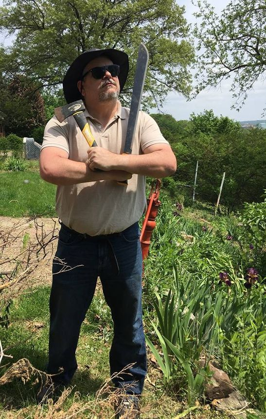 Preparing to tackle my vineyard and conquer the weeds and invasive trees.
