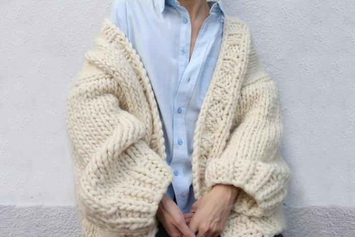 Simone Cardigan knitting kit from We Are Knitters