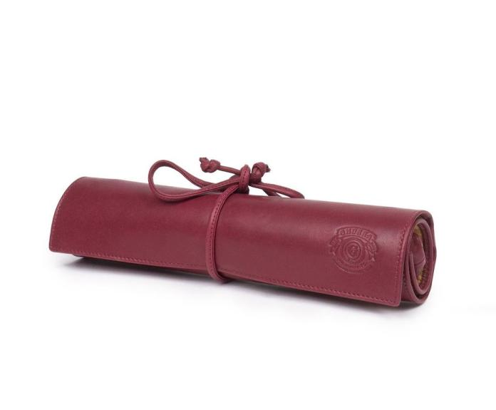Handcrafted jewelry roll from Ghurka.