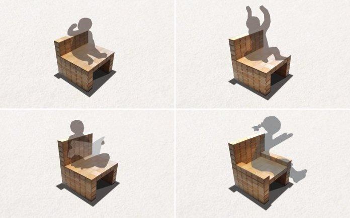 masuisu chair made of japanese traditional wooden box 4
