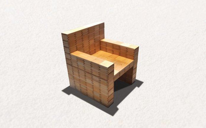 masuisu chair made of japanese traditional wooden box 5