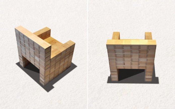 masuisu chair made of japanese traditional wooden box 7