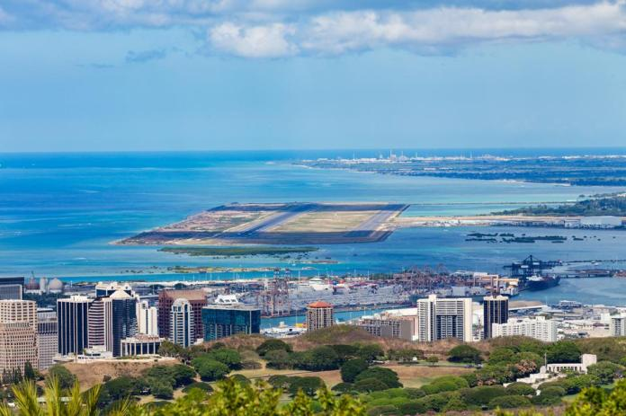 Elevated view of Honolulu International Airport