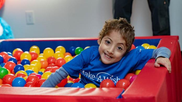 boy in play area