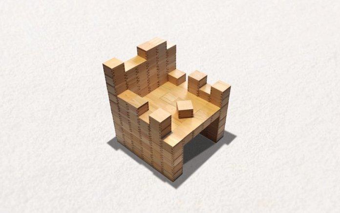 masuisu chair made of japanese traditional wooden box 1