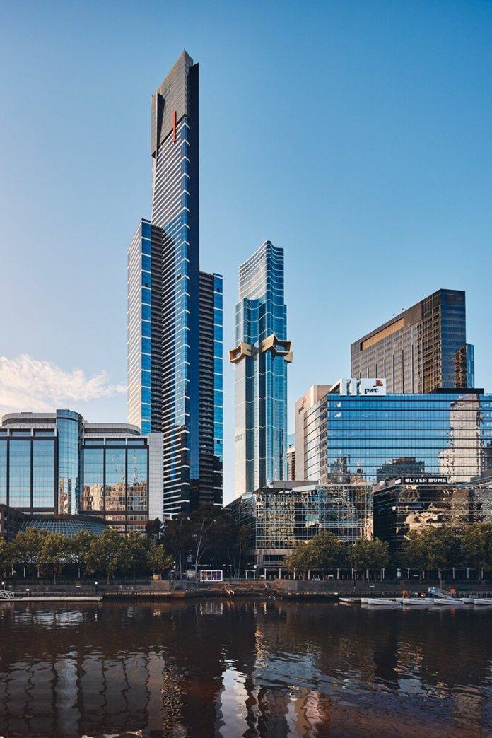 fender katsalidis nests gold starburst into southern hemisphere's tallest tower, 'australia 108'