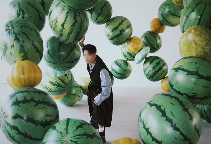 cyril lancelin explore data and nature abundance in an immersive sculpture made of giant melons in beijing 4
