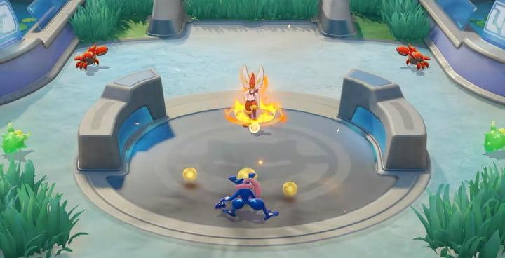 Cinderace attack in Pokémon Unite.