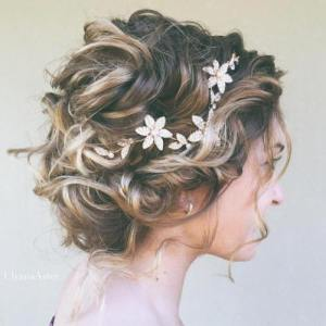 1 messy curly bridal updo