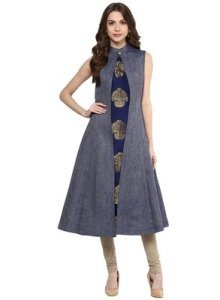The sophisticated high neck kurti