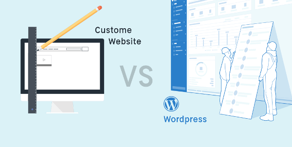 What is better a Wordpress or a custom Web