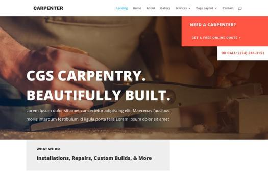 carpenter wordpress template