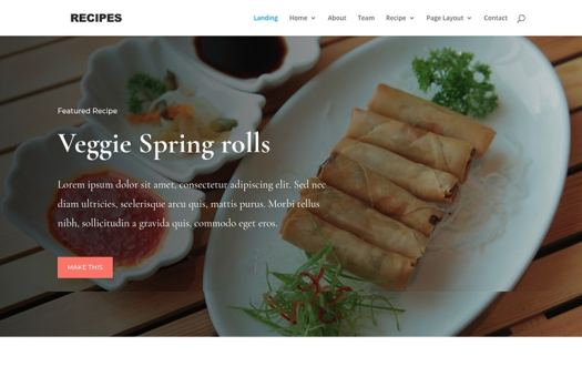 Food WordPress Template