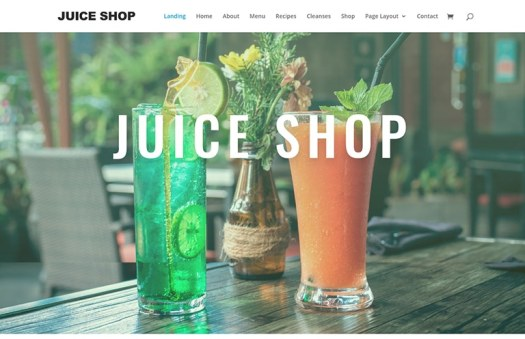 juice shop website template