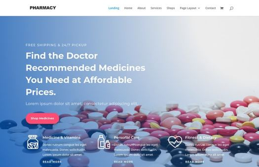pharmacy website template