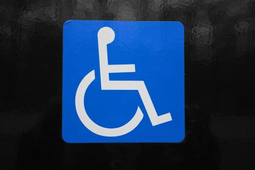 Disabled person symbol.