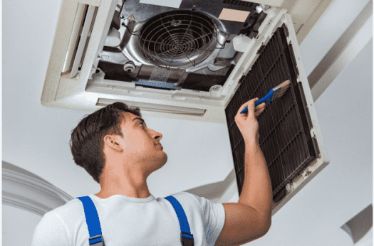 cleaning central ac