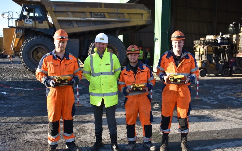 Young people gearing up for careers at Banks Mining after completing apprenticeships
