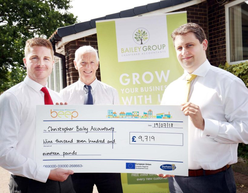 Sedgefield firm saving money thanks to a near £10,000 BEEP grant