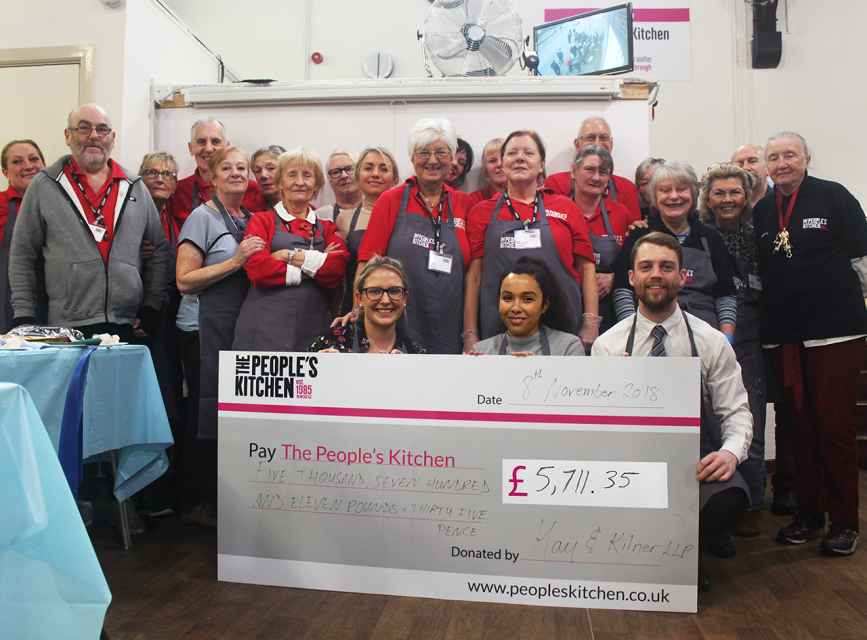 North East law firm cooks up four-figure donation to The People's Kitchen