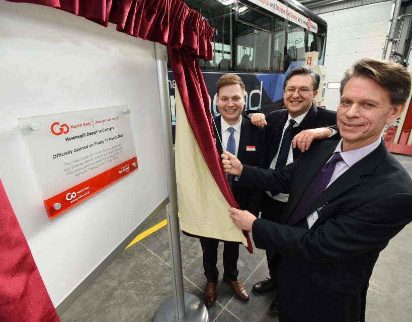 Go North East opens £3.5m state of the art Consett depot