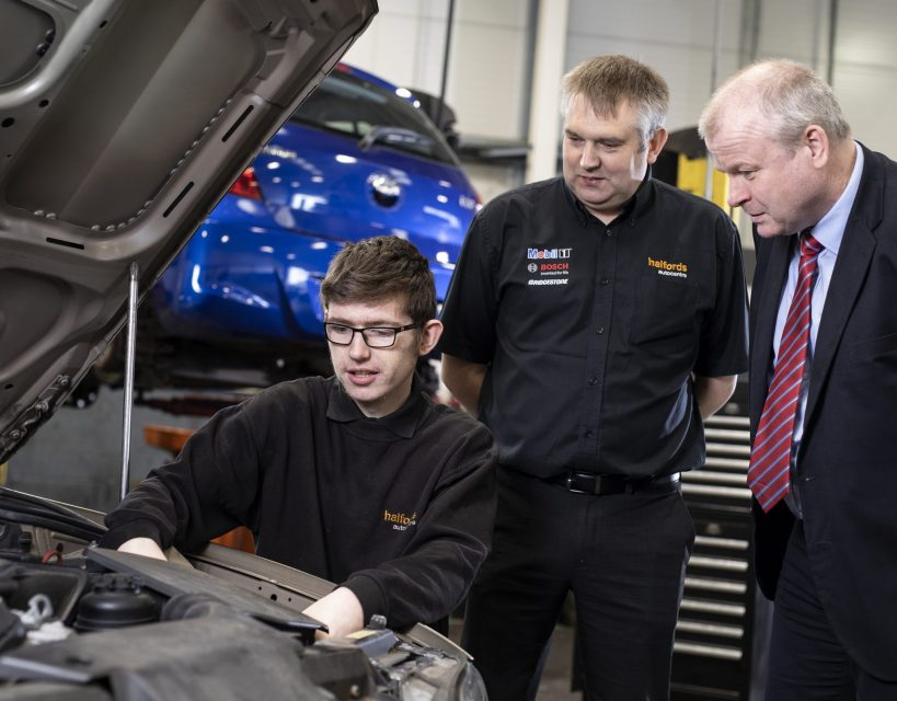 Halfords and Gateshead College steer young people towards apprenticeships
