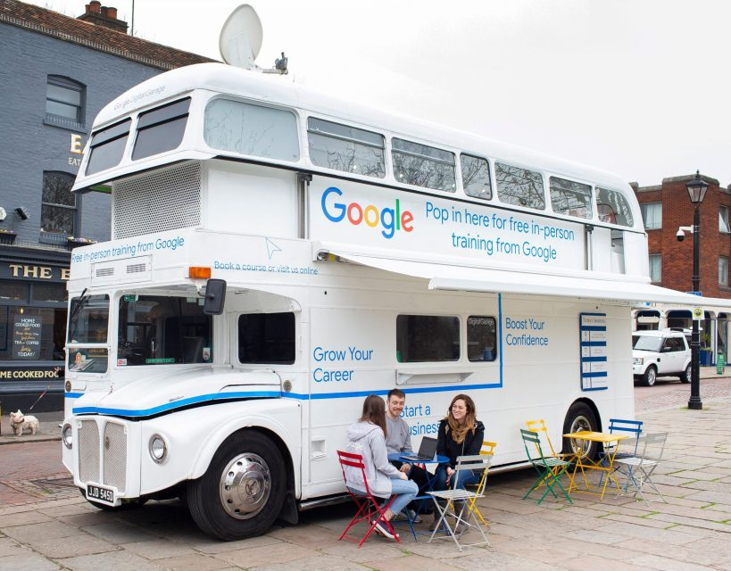 Digital training on offer as the Google bus rolls into County Durham