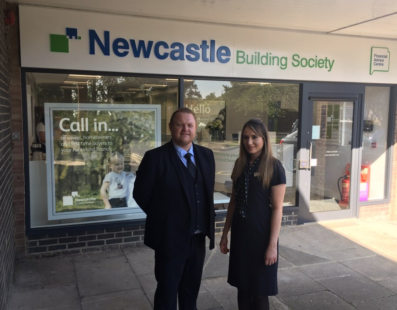 Charity head to officially re-open Newcastle Building Society's Ponteland branch