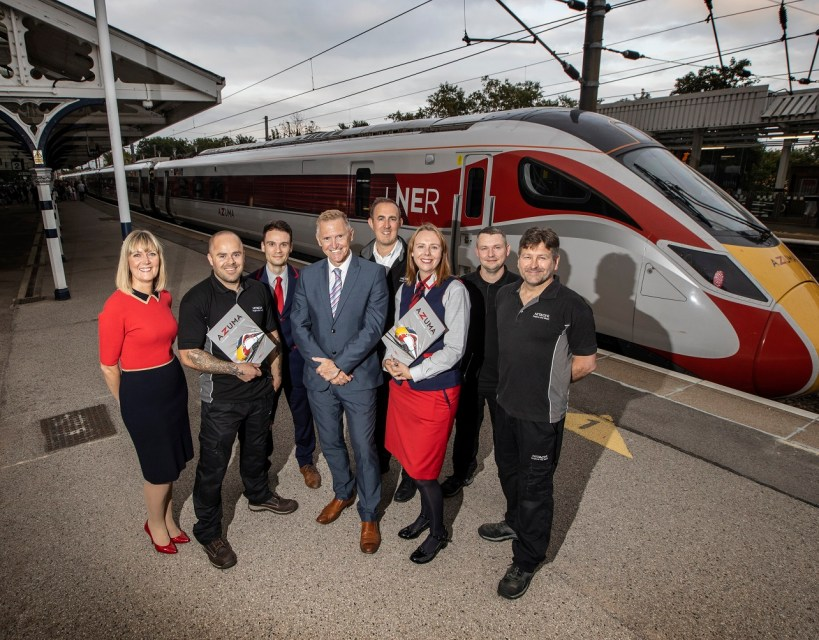 High speed trains built in County Durham come home for the first time