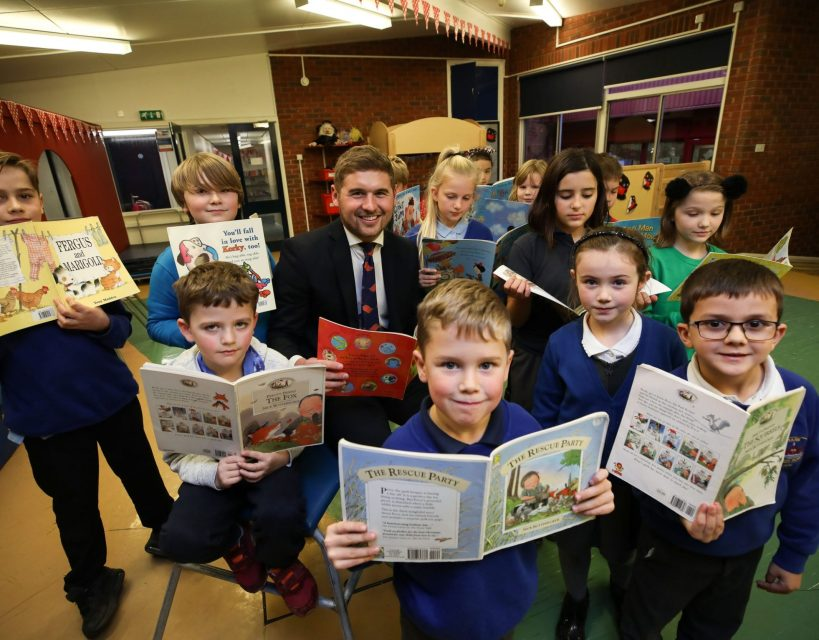 £500 Bellway donation boost school's library resources