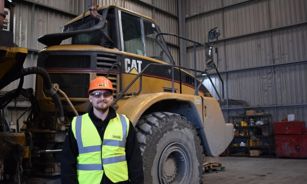 Liam banks himself a role with mining company after completing apprenticeship