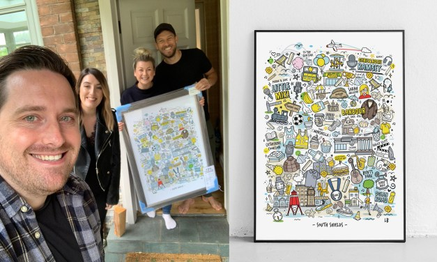 Illustrator's South Shields artwork attracts celebrity following