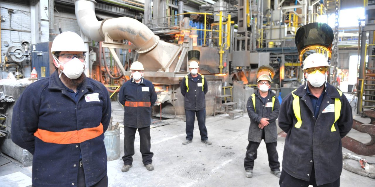 Specialist steel plant re-opens after four-month coronavirus shutdown