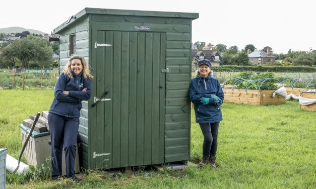 Wooler community gardeners get new eco-loo thanks to NBS grant