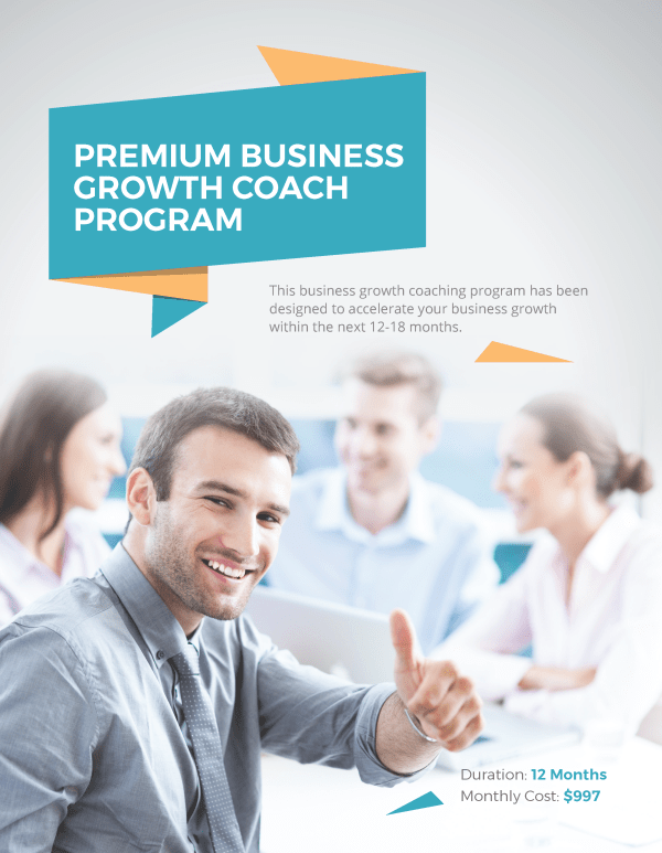 Premium Business Growth Coaching Program Sheet - Business ...