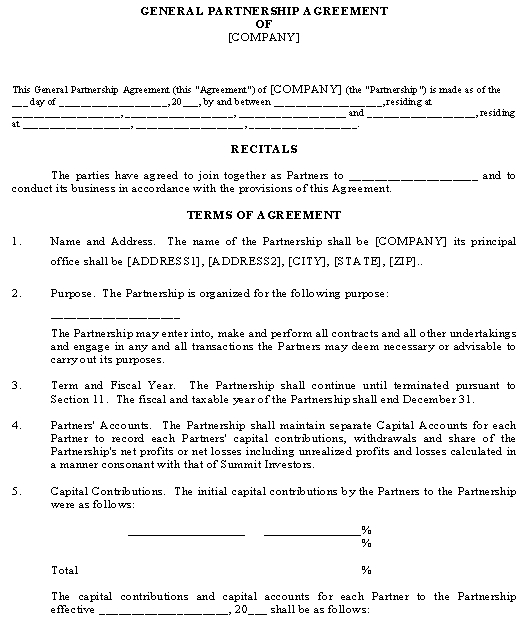 , and any other type of. Simple Partnership Agreement Template Download From Business Types And Forms General Partnerships