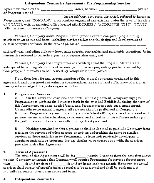 This is a simple company friendly consultancy agreement for engaging independent contractors or consultants (e.g.. Independent Contractor Agreement Template Download From Accounting And Finance Agreements