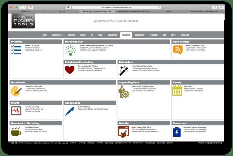 marketing plan template dashboard