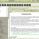 Business plan software includes marketing plan model