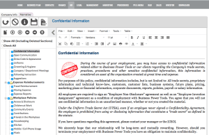 employee policies handbook software template app