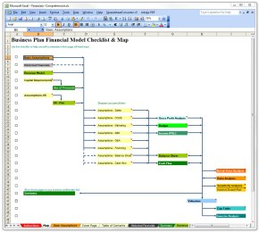 business plan financial excel template map