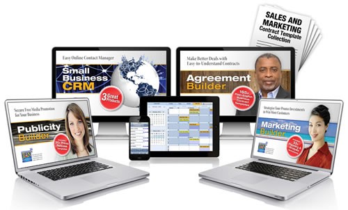 Strategic marketing plan and public relations management software with sample press release templates
