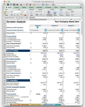 jian business plan software excel model template investor analysis